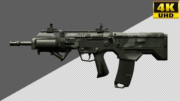 Rifle, Weapons, Guns On Alpha Channel Loops V3