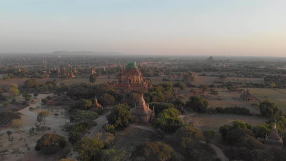 Aerial view of Old Bagan temple site.