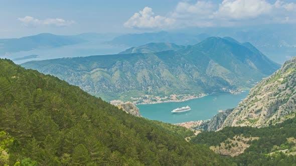 Thumbnail for Beautiful Natural Bay, Travel Destination View, Fjord of Kotor, Montenegro
