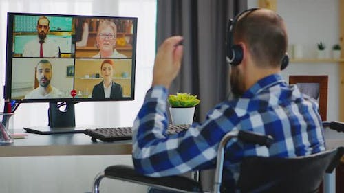 Video Call Working From Home