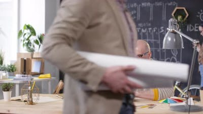 Male Designer Working in Startup Office