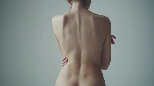 Nude Female Back Close-up