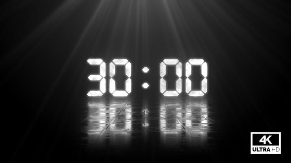 Digital Negative Countdown 30 Seconds Silver