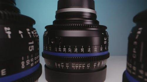 Lenses Arranged on a Table
