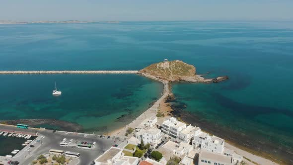 Thumbnail for Aerial View of Apollo Temple's Entrance on Naxos in Greece.