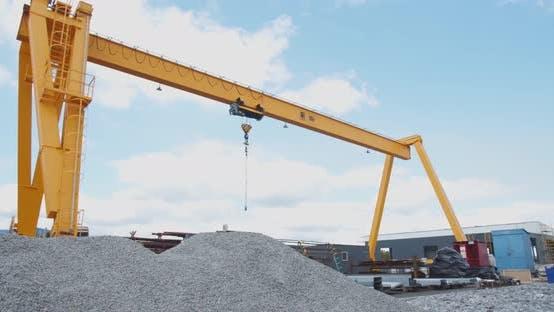 Thumbnail for Massive Yellow Crane in the Docks, Heavy Machinery,