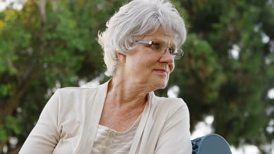 Thumbnail for Elderly woman getting lost in thought