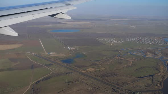 Thumbnail for Aerial View From Descending Airplane