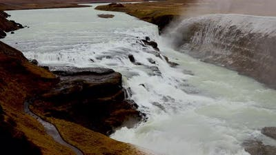 The Famous Gullfoss Waterfall in Iceland