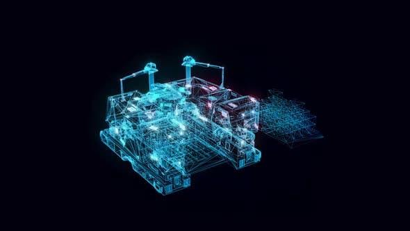 M.E.V. Vehicle Hologram Rotating 4k