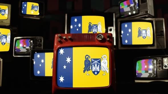 Thumbnail for Flags of the Australian Capital Territory on Retro TVs.