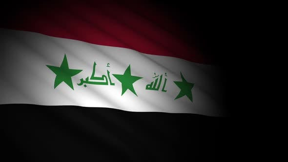 Thumbnail for Iraq Flag Blowing in Wind