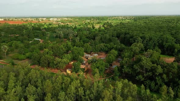 Cover Image for Africa Mali Village Aerial View 2