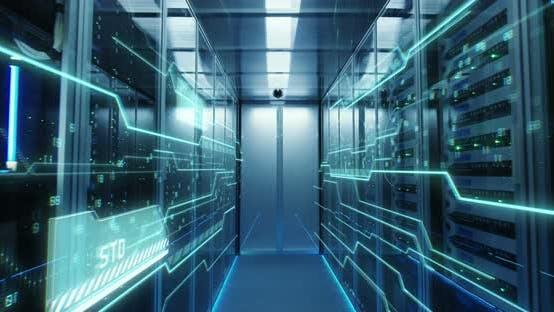 Thumbnail for Interior of a Futuristic Data Center