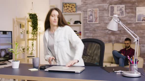 Cover Image for Girl Typing on Laptop While Working From Home