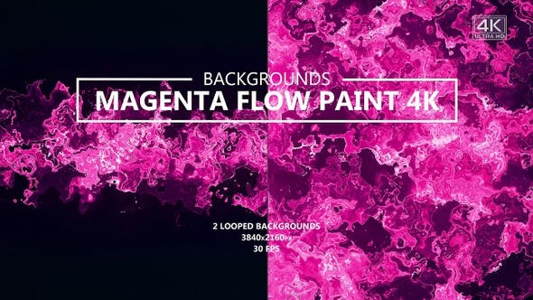 Thumbnail for Magenta Paint Flow Backgrounds