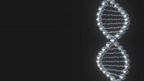 DNA Molecule Model Made of Metal Balls