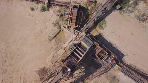Sand Quarry Sorting Rubble Line