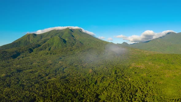 Hyperlapse Mountains Covered with Rainforest Philippines Camiguin
