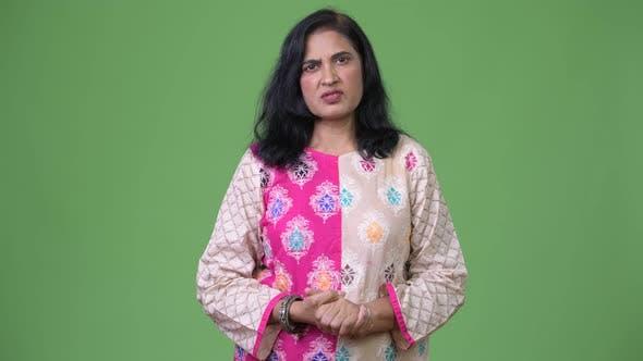 Thumbnail for Mature Beautiful Indian Woman Talking on Camera