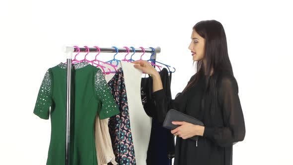 Thumbnail for Elegant Woman Shopping in Clothes Store