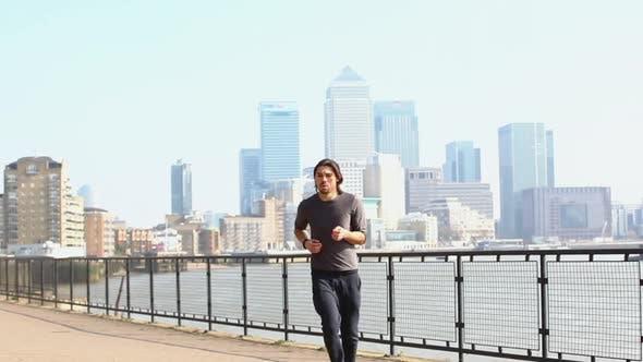 Thumbnail for Man jogging
