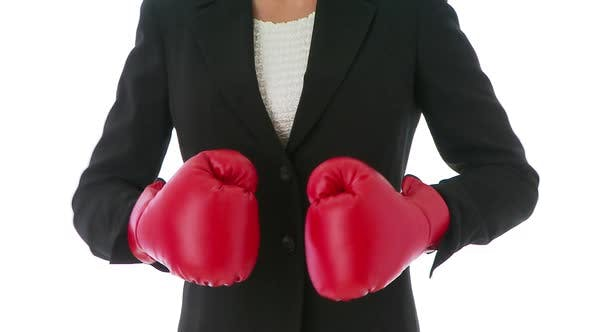 Thumbnail for Businesswoman boxing