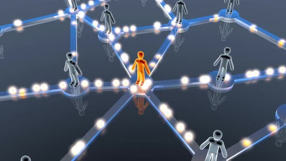Animation of Individuals forming a social network