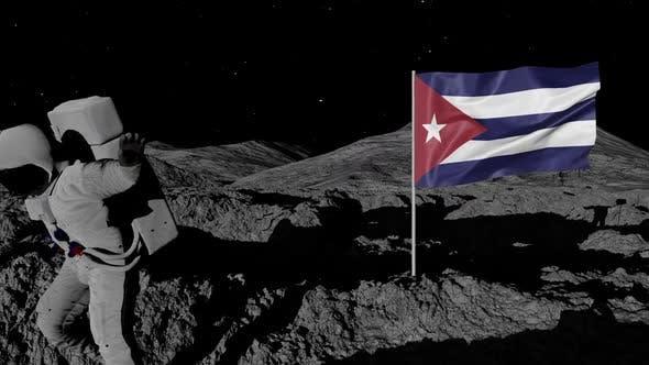 Thumbnail for Astronaut Planting Cuba Flag on the Moon