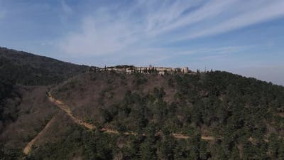 Aerial Medieval Byzantium Historical Ruin
