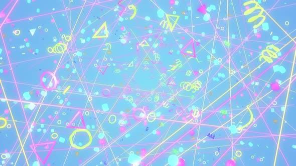 Thumbnail for Geometric Retro 90s 02 4K