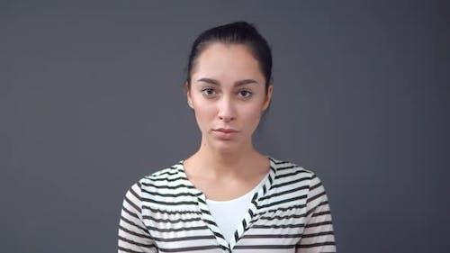 Portrait of Sad Girl