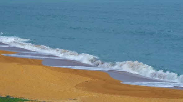 Thumbnail for Stormy Sea Surrounded By Clean Yellow Sand