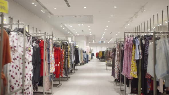 Thumbnail for Racks with Clothing in Fashion Store