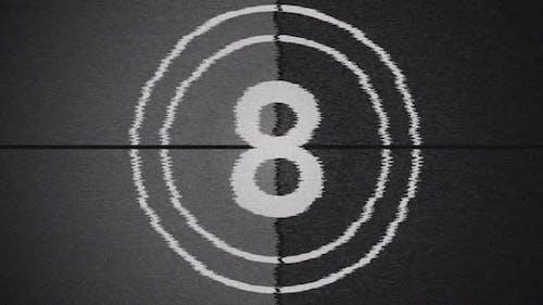 Old Film Style Grunge Countdown 4K