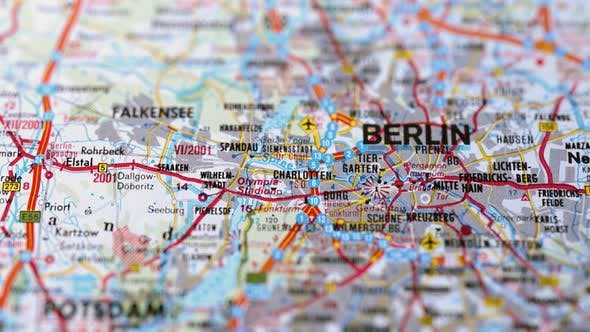Thumbnail for City Berlin On Europe Map, Slider Shot