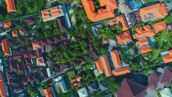 Thumbnail for Aerial View The Roofs Of Houses And Hotels In Bali