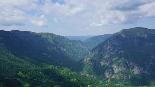 Thumbnail for Mountains in Park Durmitor Montenegro Timelapse