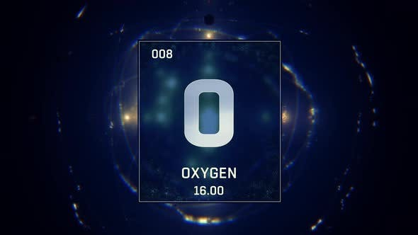 Thumbnail for Oxygen as Element 8 Of The Periodic Table On Blue Background