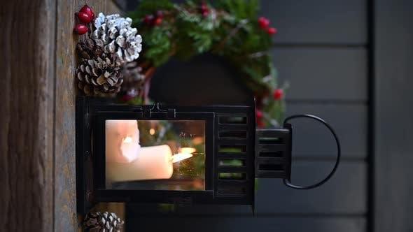 Christmas Lantern vertical video