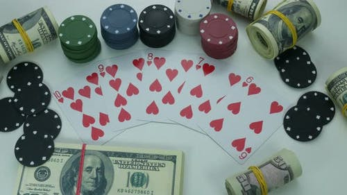 Hearts Street Flush  And Money