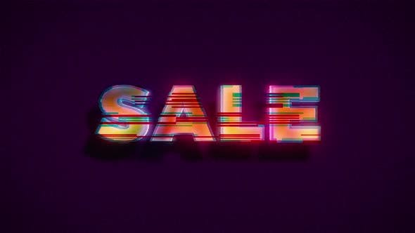 Thumbnail for Glitch Sale Advertisement Banner Background