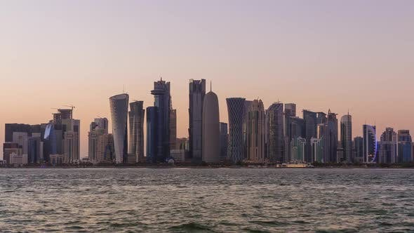 Thumbnail for Doha Skyscrapers and Sunset