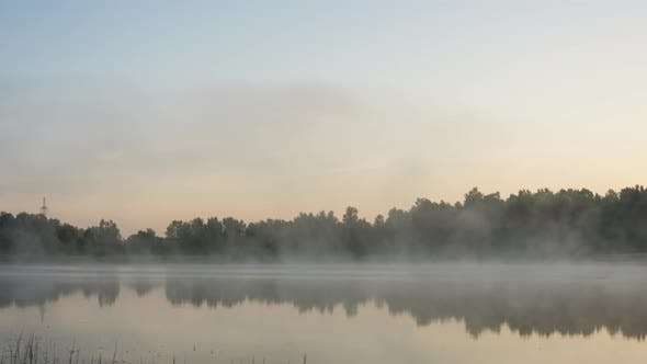 Thumbnail for Misty Early Morning at Forest Lake