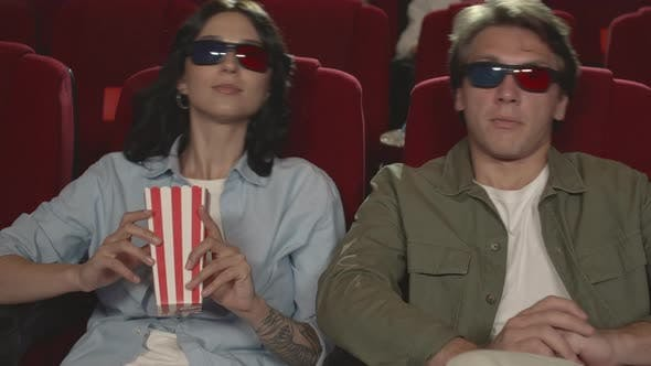 Thumbnail for Couple Watching 3d Movie in Cinema