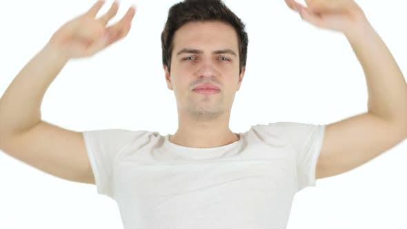 Thumbnail for Tired Man Streching Body