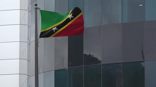 Saint Kitts And Nevis Flag Background 4K