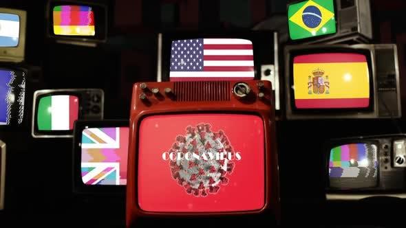 Coronacrisis, COVID-19 Global Pandemic and Vintage Televisions.