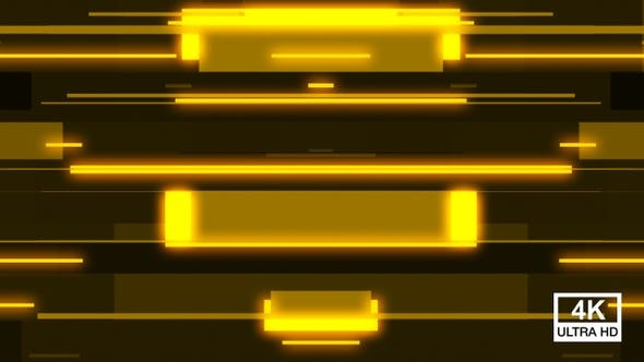 Yellow Glowing Light Random Stripes Transition 4K V3