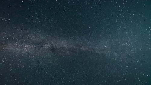 Time-lapse. Milky way in the night starry sky